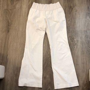 GAP Pants - Gap maternity white khakis